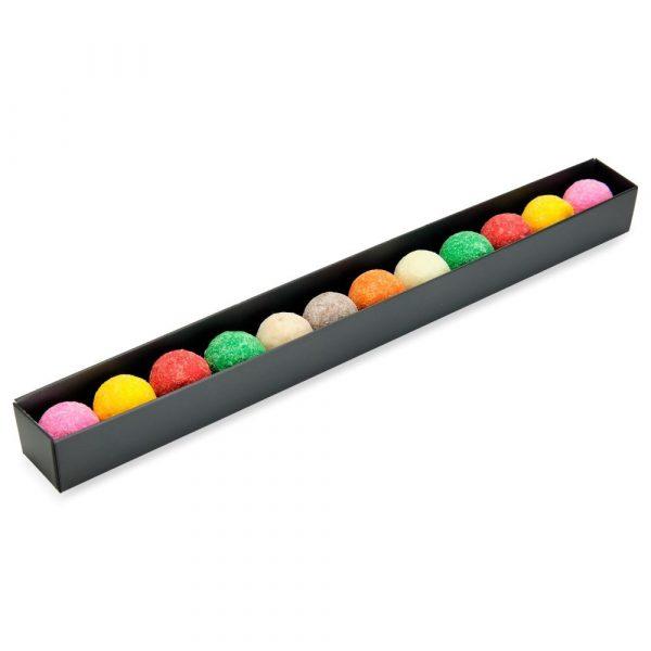 maxi tube gevuld met chocoladetruffels